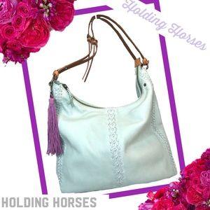 ANTHROPOLOGIE-HOLDING HORSES Leather Shoulder Bag